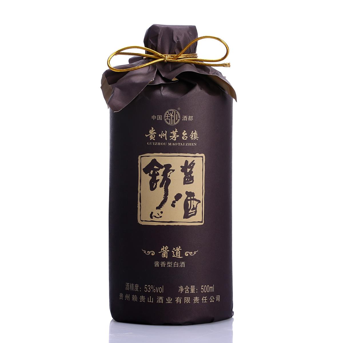 53度貴州醬香白酒舒心醬酒醬道500ml高度國產純糧原漿糧食酒