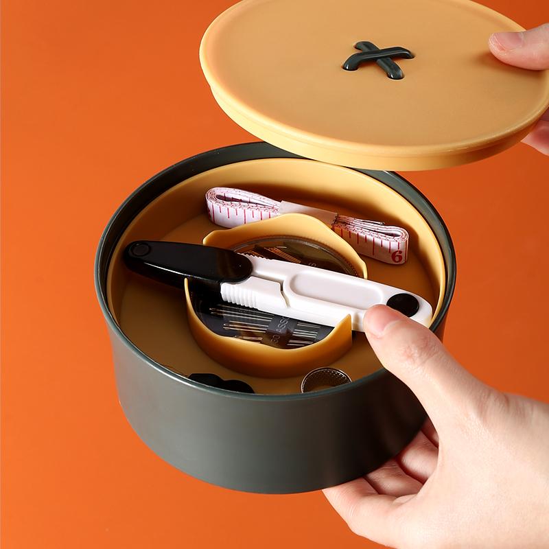 家用高档针线盒套装包邮多色针线包小便携宿舍学生手缝针缝补工具图片