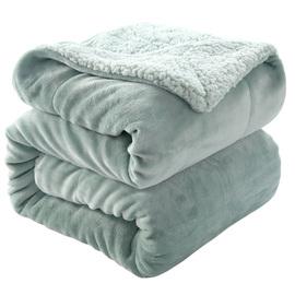 冬季羊羔绒毛毯小被子加厚保暖午睡盖腿沙发垫双层法兰绒毯子床单