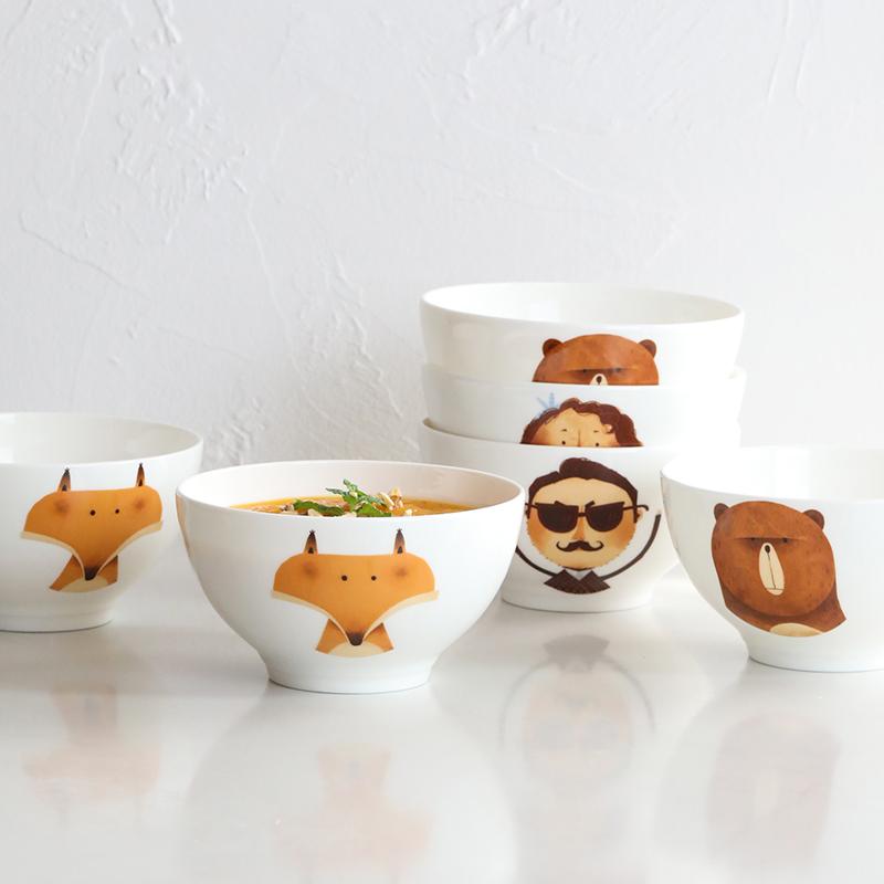 蓝莲花家居创意家用陶瓷餐具米饭碗10月15日最新优惠