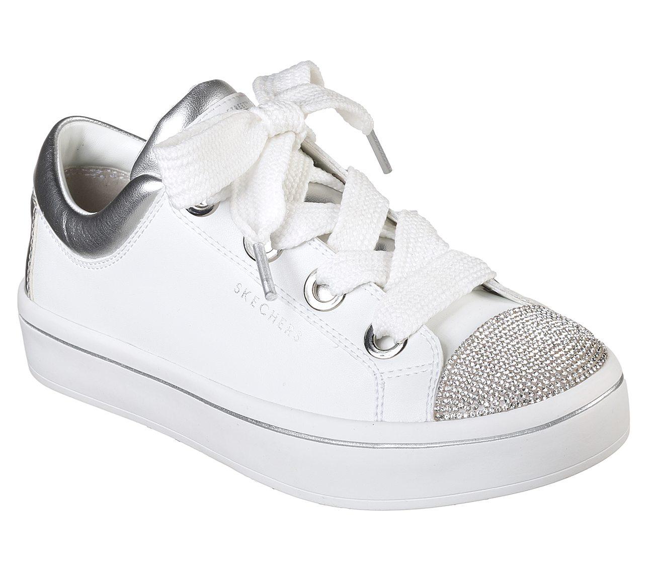 美国代购skechers斯凯奇2018新款女鞋舒适系带街拍时尚板鞋978