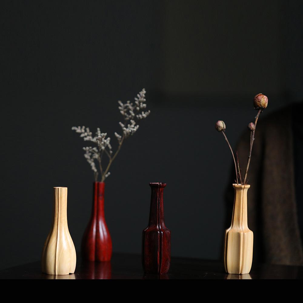 印度小叶紫檀【 花器】案上花瓶 香道器具收纳 文房 家居摆设