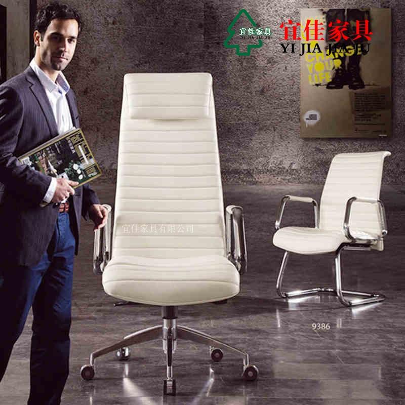 现代老板椅高端时尚欧式电脑椅 白色老板椅家用休闲椅 大班椅真皮