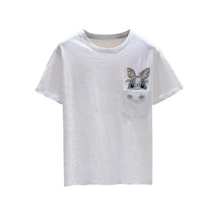 白色短袖t恤韩版2019夏装潮打底衫
