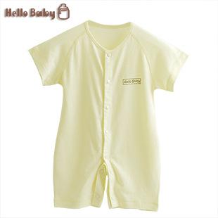 hellobaby夏服薄い半袖カーディガンベビー服のワンピース