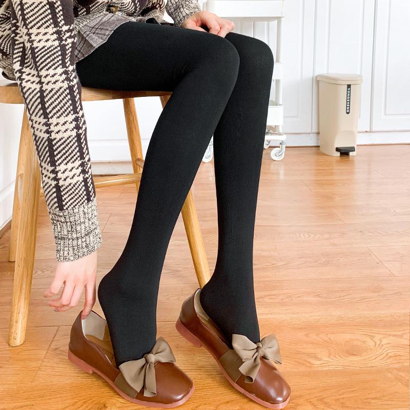 显瘦美腿袜秋冬季中厚款毛圈压力680D打底裤袜哑光塑形丝袜连裤袜