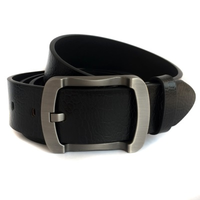 Leather belt mens leather pin buckle genuine leather genuine wide belt mens belt casual Korean version fashionable and versatile