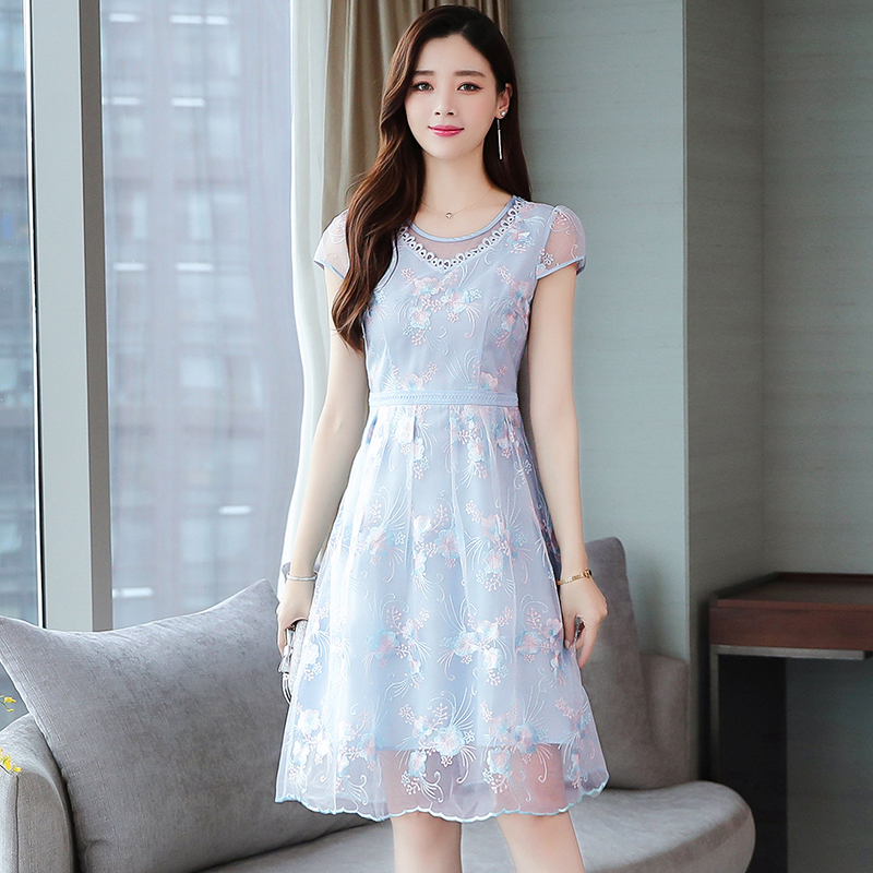 30-40 smart dress new summer harvest waist show thin temperament your lady high end foreign style fashion skirt