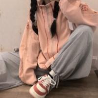 查看樱田川岛2021年新款秋冬百搭加厚宽松工装夹克拉链外套ins女装潮价格