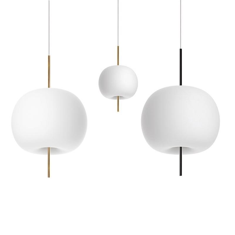 玻璃苹果灯LED现代简约吧台餐厅北欧卧室床头全铜单头吊灯