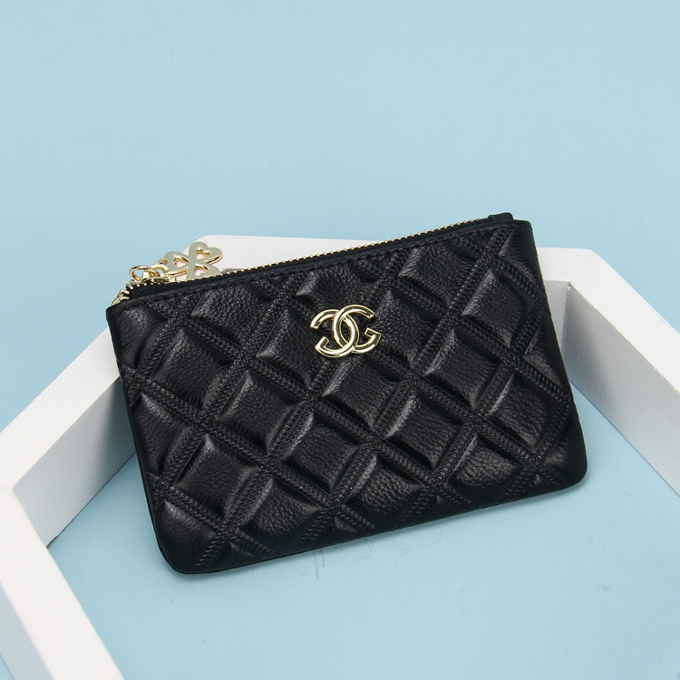 2020 new fashion small wallet Korean first layer cowhide lady purse solid color zipper zero Purse