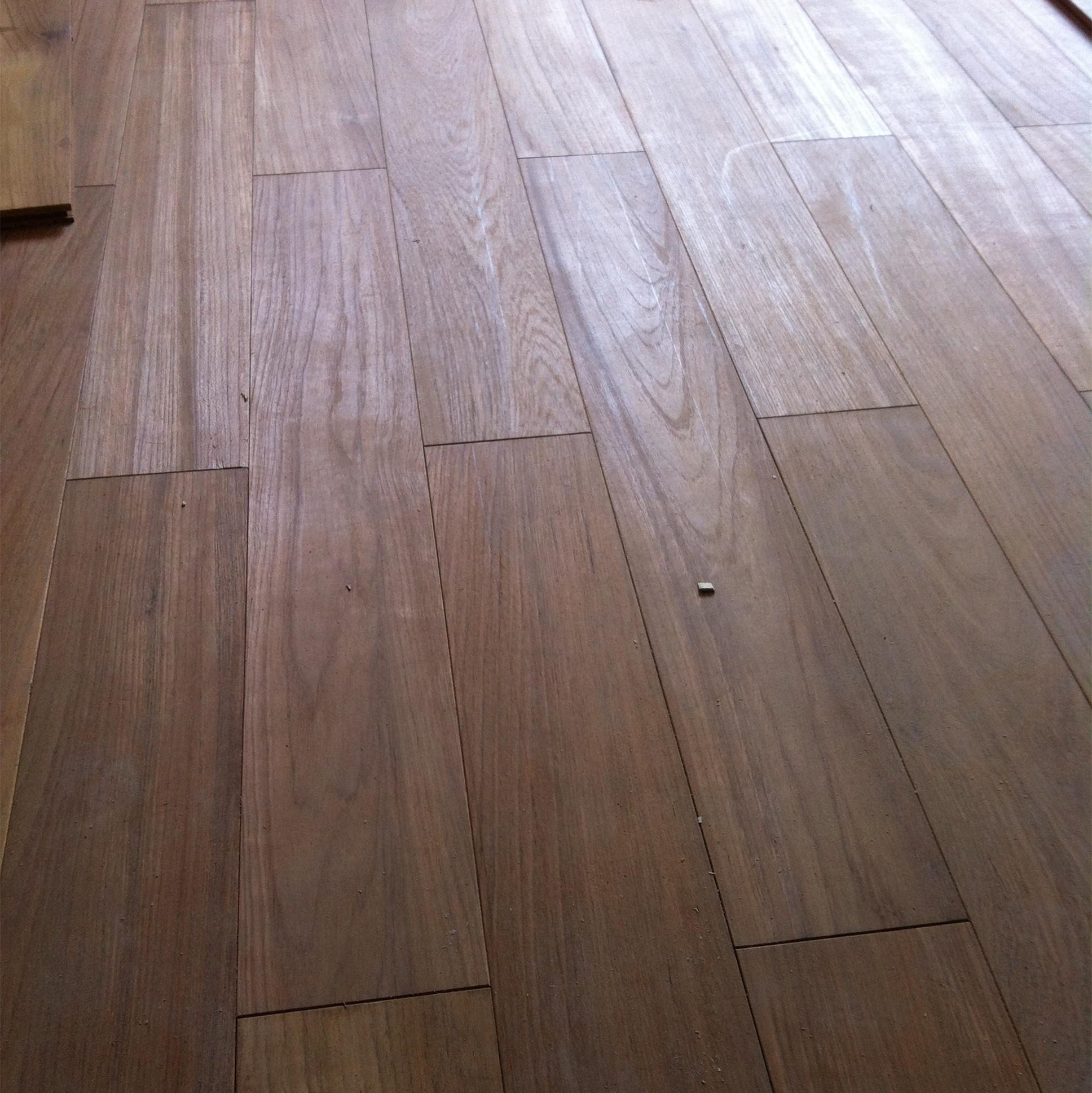 国森缅甸柚木地板 纯实木免漆地板特价 大自然素板地暖地热410长