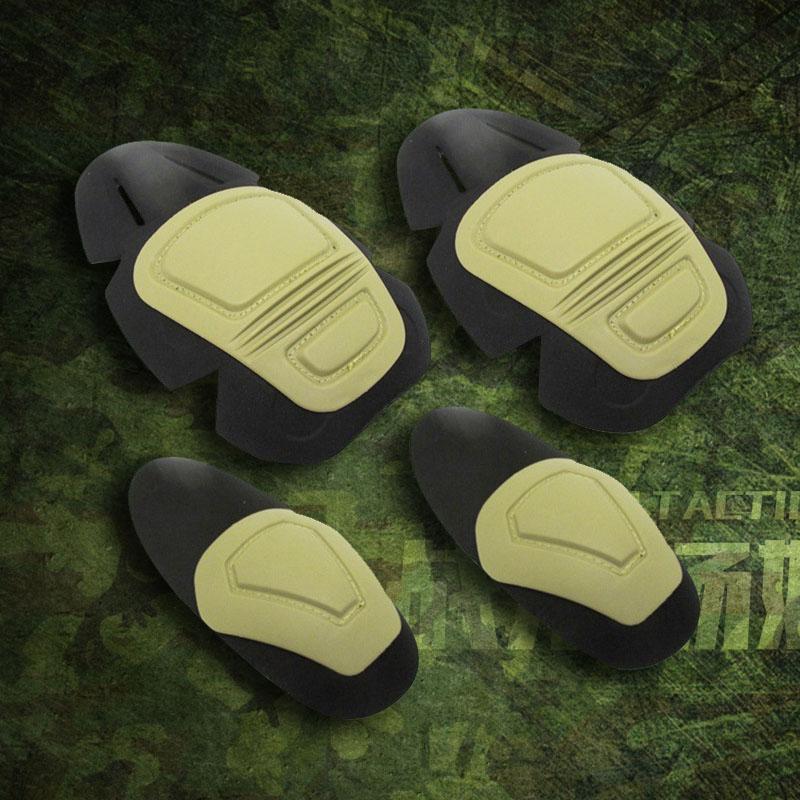 Тактический Том GEN3 GEN2 Коленое локоть комплект Защитник 4 наборы бежевый Специальный защитник одежды лягушки солдата