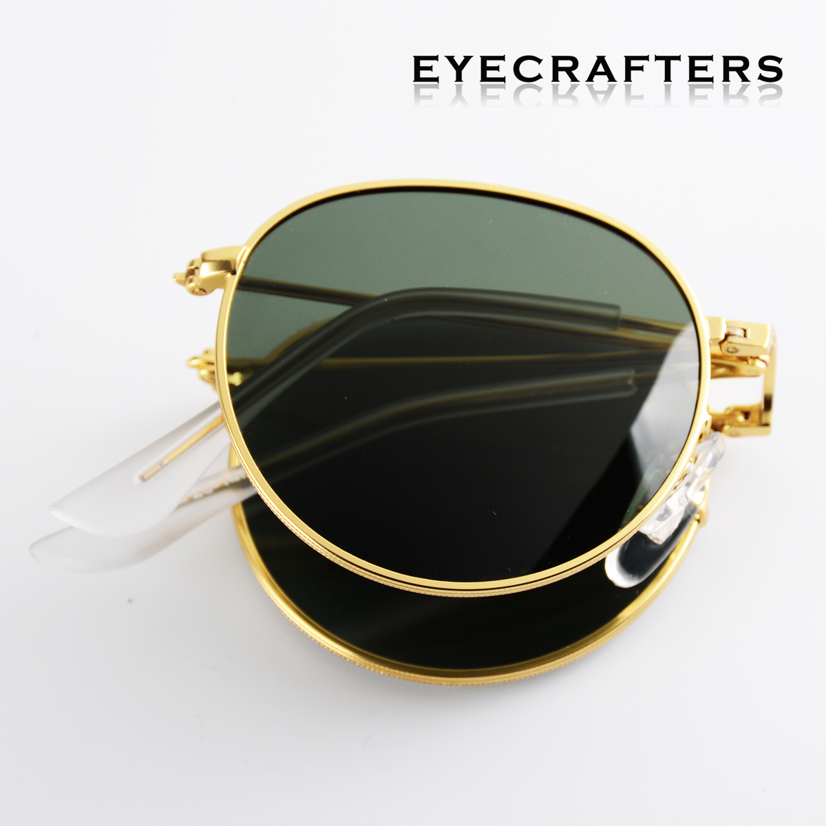New polarized light man folding sunglasses tiktok portable star sunglasses, metal glasses, female driving glasses, driving