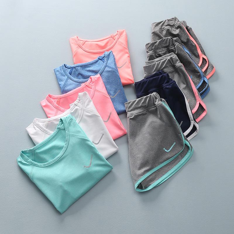女童夏装速干衣儿童运动套装中大童短袖短裤两件套男童洋气T恤潮