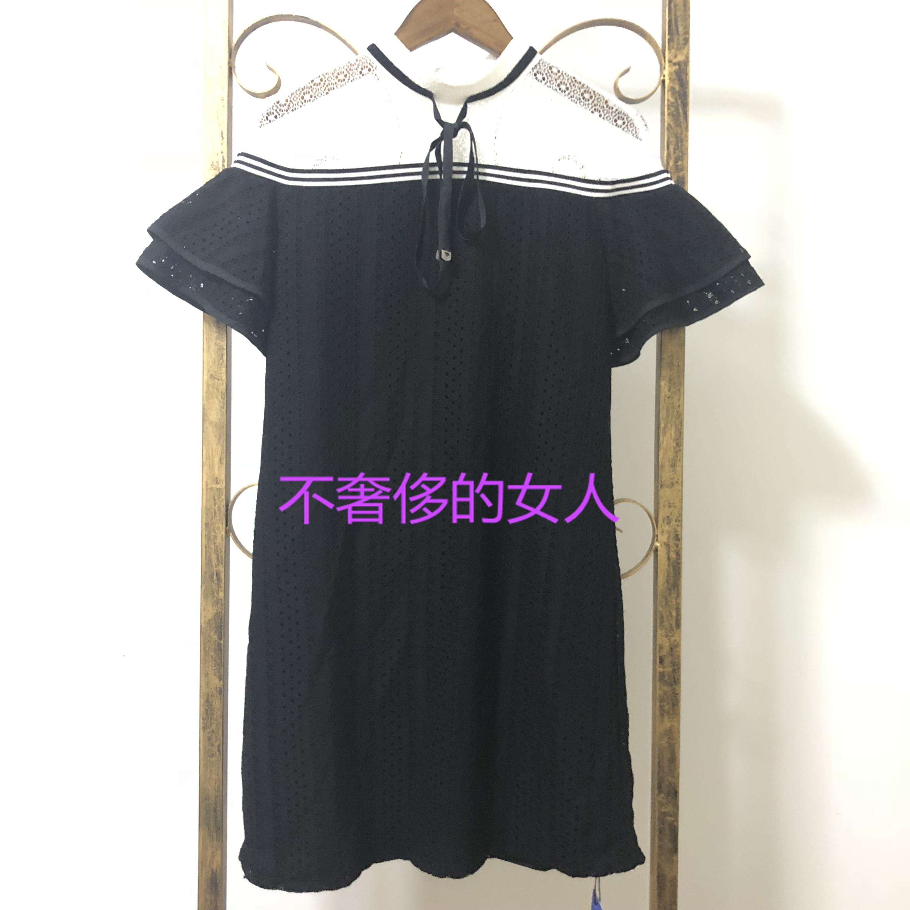 诗篇女装2018年夏季新款女减龄气质宽松显瘦蕾丝连衣6C58205900