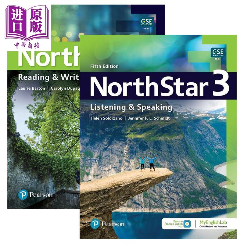 托福雅思 North Star 培生北极星听说读写第3级套装共2册含APP资源及音频Fifth Edition【不含MyEnglishLab】