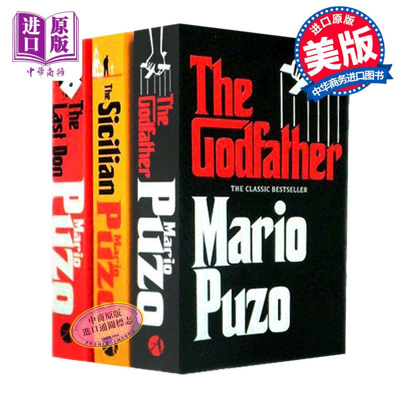 【中商原版】教父三部曲 英文原版 电影小说 全套3册 the Godfather last don Sicilian 西西里人 三本装