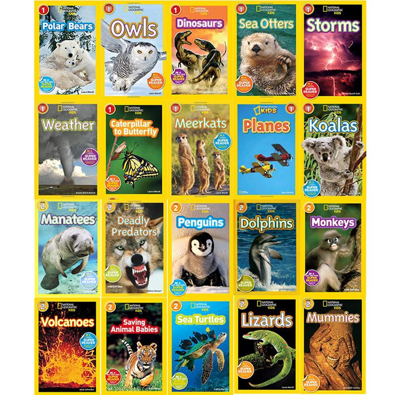 预售【中商原版】英文原版national geographic kids Readers L1 L2美国国家地理自然与生物20册 Level1+2全彩版分级阅读 儿童百?