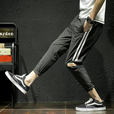 2018春季新款潮男日系休闲裤学生小脚哈伦裤K01-P55控价68