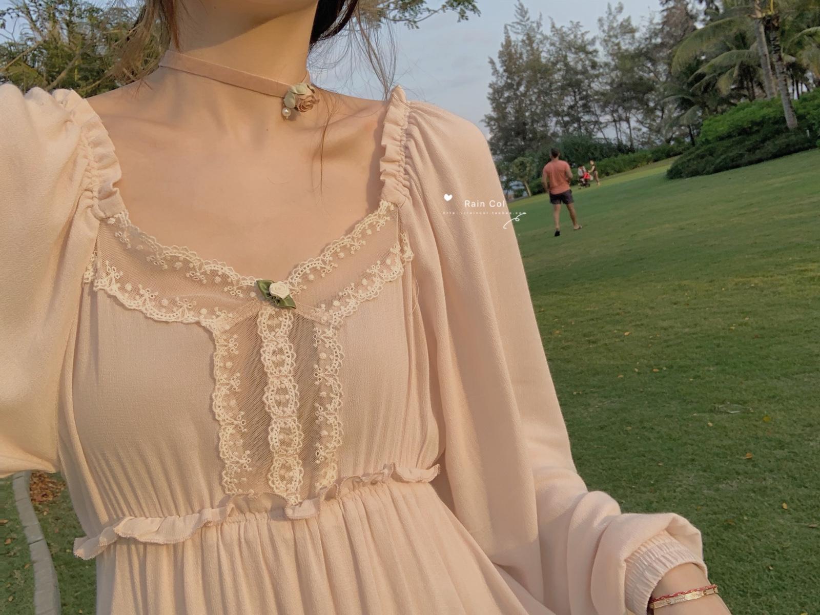 129.00元包邮【rain col】浪漫唯美的小花朵连衣裙