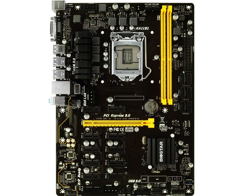 Biostar TB250-BTC PRO motherboard 7-phase power supply supports 6500, 7100, 8400, 9400F, 9600K, 12 graphics card interconnection; the workmanship is stable and durable, and the boss is a good choice!