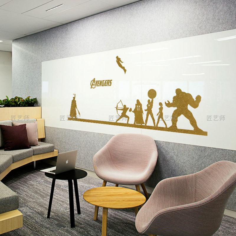 复仇者联盟绿巨人钢铁侠美国队长电影墙贴酒吧大学生宿舍装饰贴画