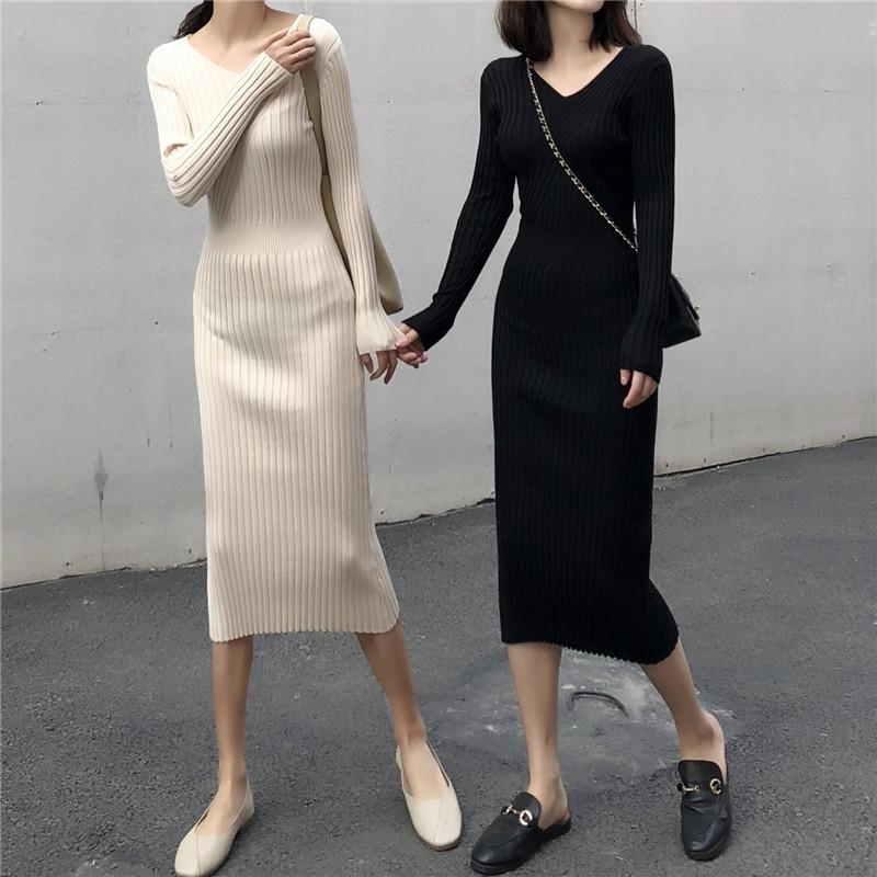(用100元券)150cm小个子显高针织复古xs连衣裙