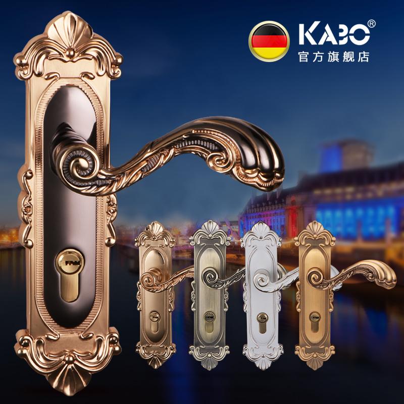 德國KABO歐式門鎖室內臥室房門鎖三件套裝實木門把手靜音家用鎖具