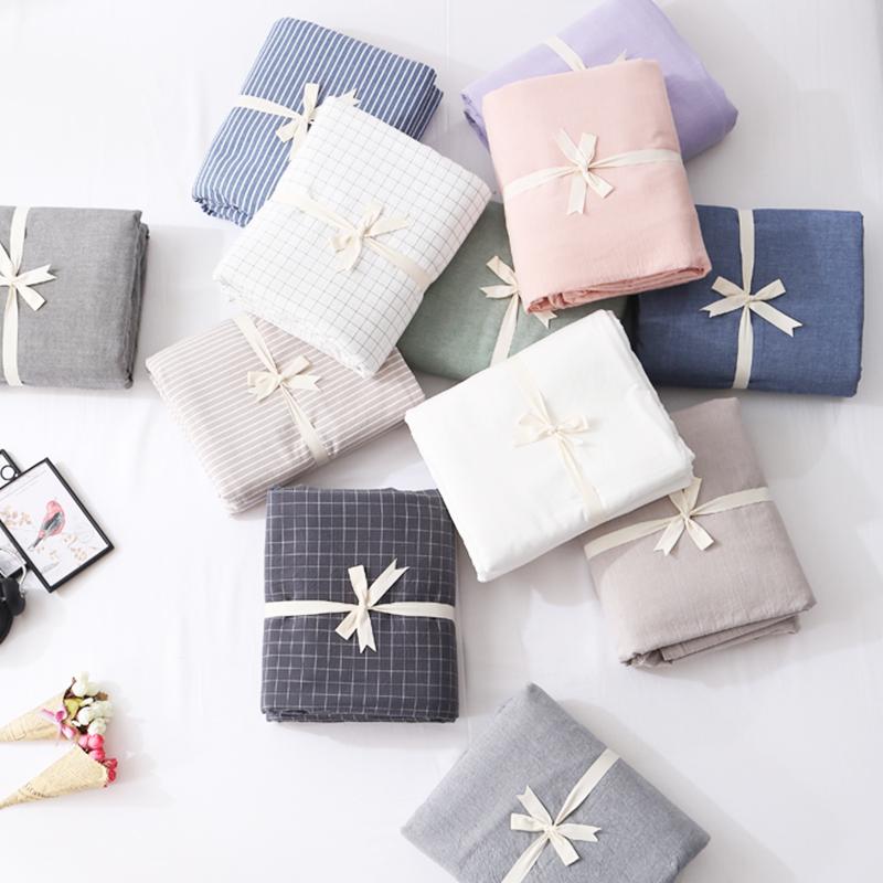 全棉水洗棉床笠单件纯棉床罩纯色席梦思床垫保护套1.5m1.8米床单