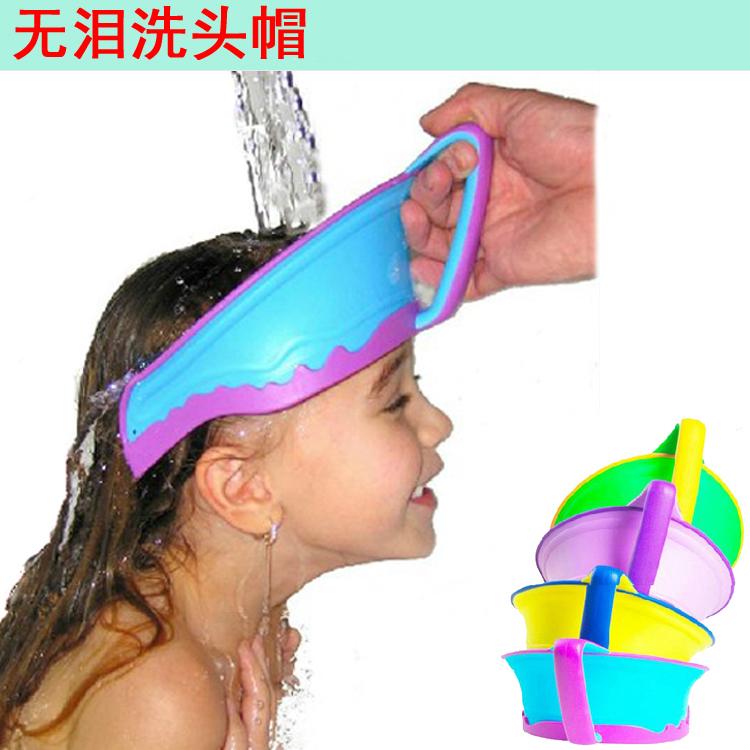 正品儿童浴帽宝宝洗头帽婴幼儿洗发洗澡帽护耳护眼沐浴帽防水帽