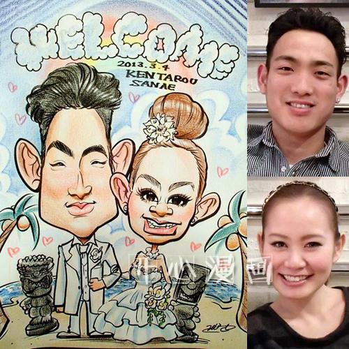 新婚情侣结婚纪念漫画肖像定制似颜手绘生日礼物Q版卡通画真人像