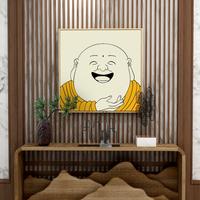 佛系弥勒佛画像新中式入户玄关笑佛质量靠谱吗