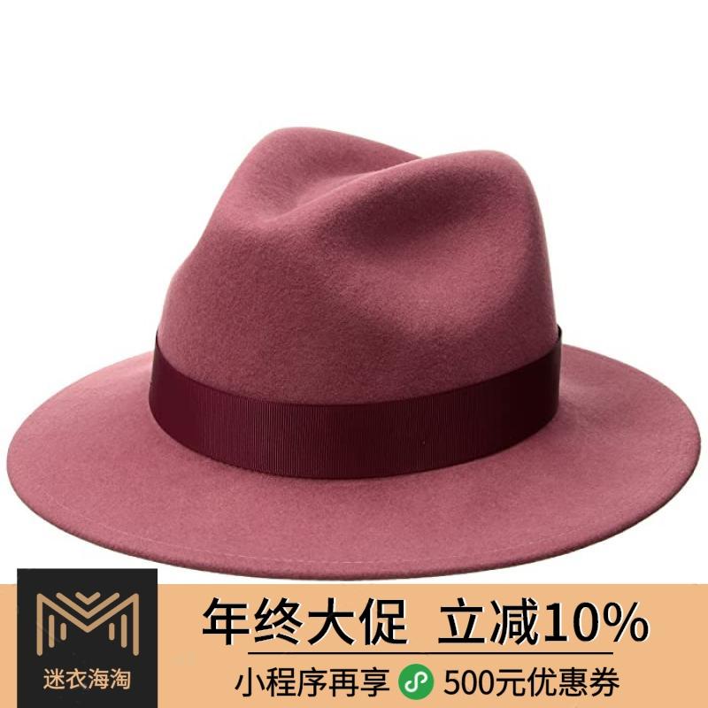 包税8.5折 代购 Betmar 女2020春季新品 软呢帽 帽子 奢华大牌