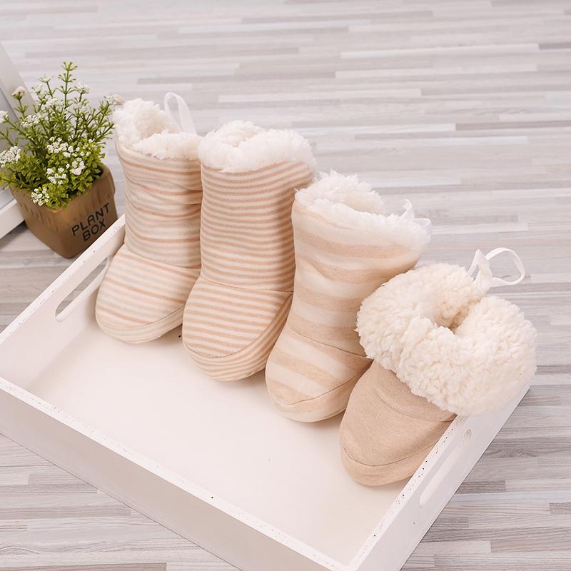 加绒保暖0秋冬季3软底不掉6男女宝宝男女12个月新生婴儿棉鞋子1岁