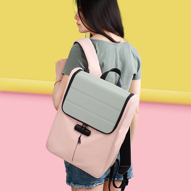 Cuneiform Qiyi square law maker computer backpack for men and women leisure simple all-around password lock waterproof Backpack