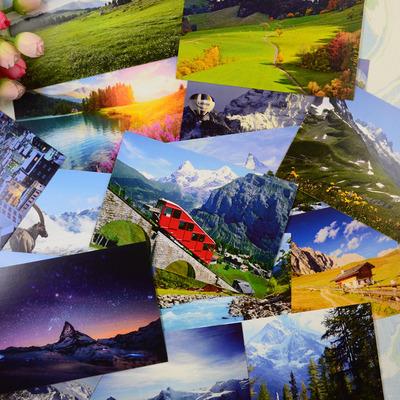 北欧风景瑞士瑞典阿尔卑斯山芬兰挪威丹麦斯堪的纳维亚冰岛明信片