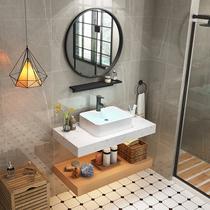 浴室柜组合卫浴柜吊柜简约欧式面盆柜组合洗手台盆柜洗漱台卫生间