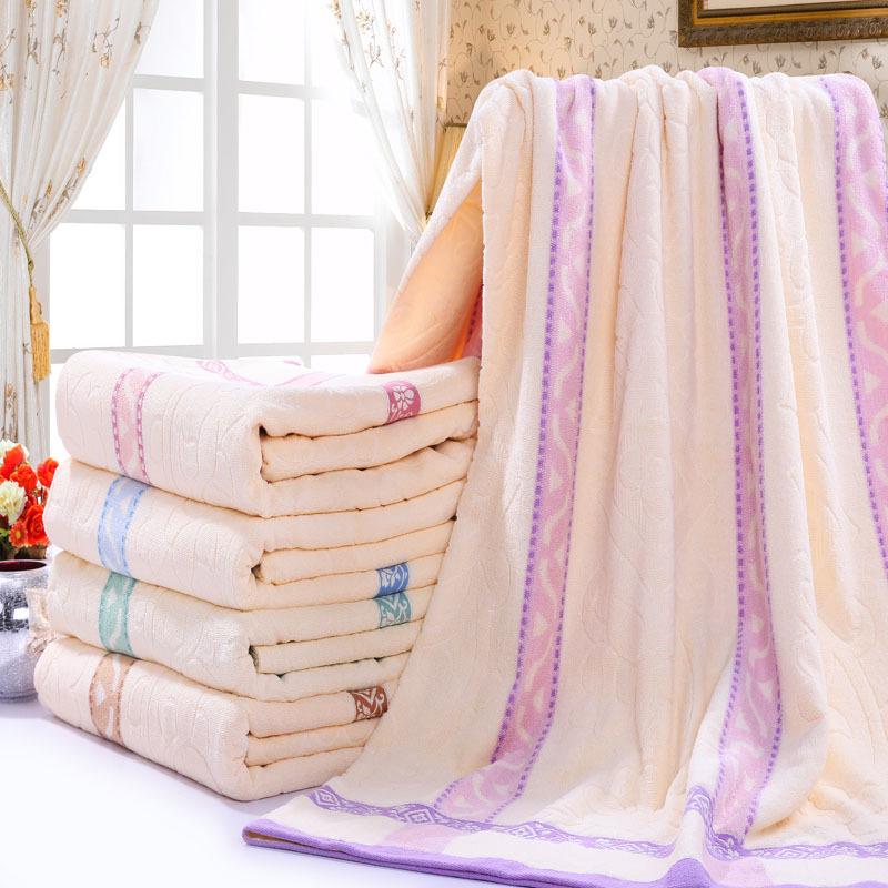 老式毛巾被纯棉 夏季双人单人加厚毛巾毯全棉空调被儿童学生盖毯