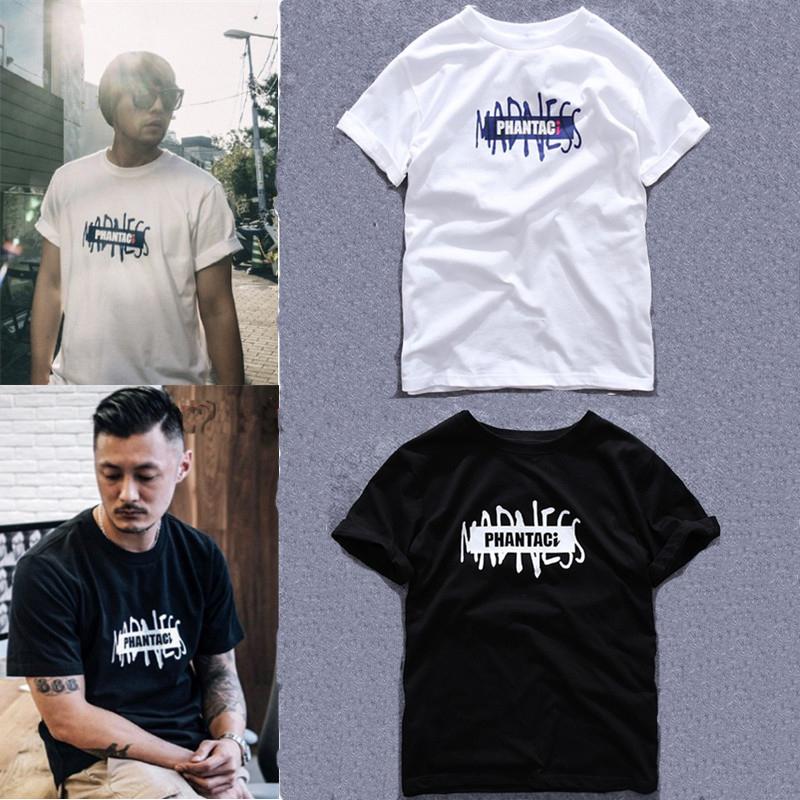 正品潮牌MADNESS PHANTACI周杰倫余文樂同款聯名logo短袖T恤男夏