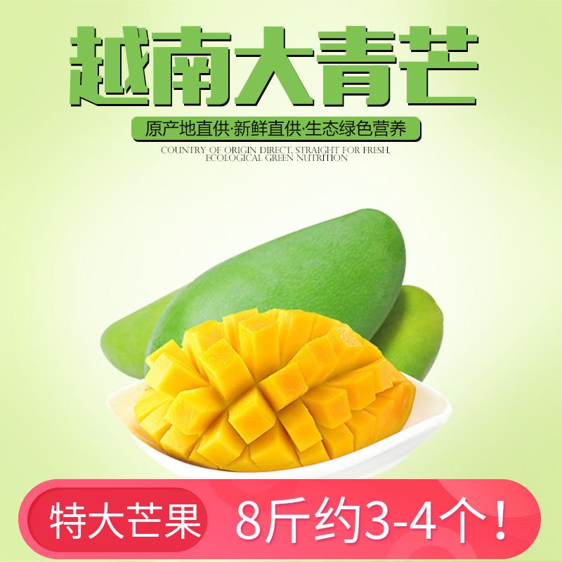 新鲜现摘越南芒果超大青芒青皮芒果当季热带水果8斤装3-4个包邮