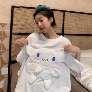 图2021新款韩版宽松大码女装立体卡通短袖t恤女,女装T恤,佳嘉服饰
