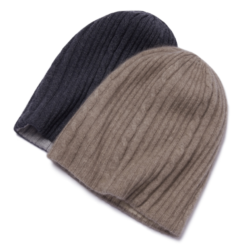 Winter warm cashmere knitted hat for men and women