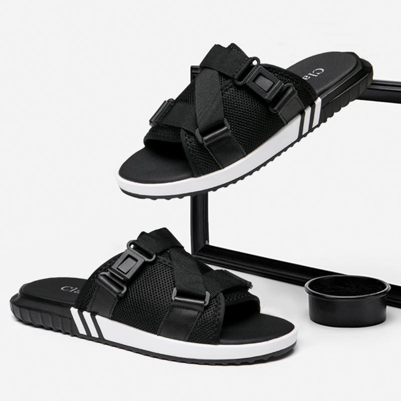 拖鞋男夏季室外凉拖韩版潮男士凉鞋个性网红拖夏天时尚外穿沙滩鞋