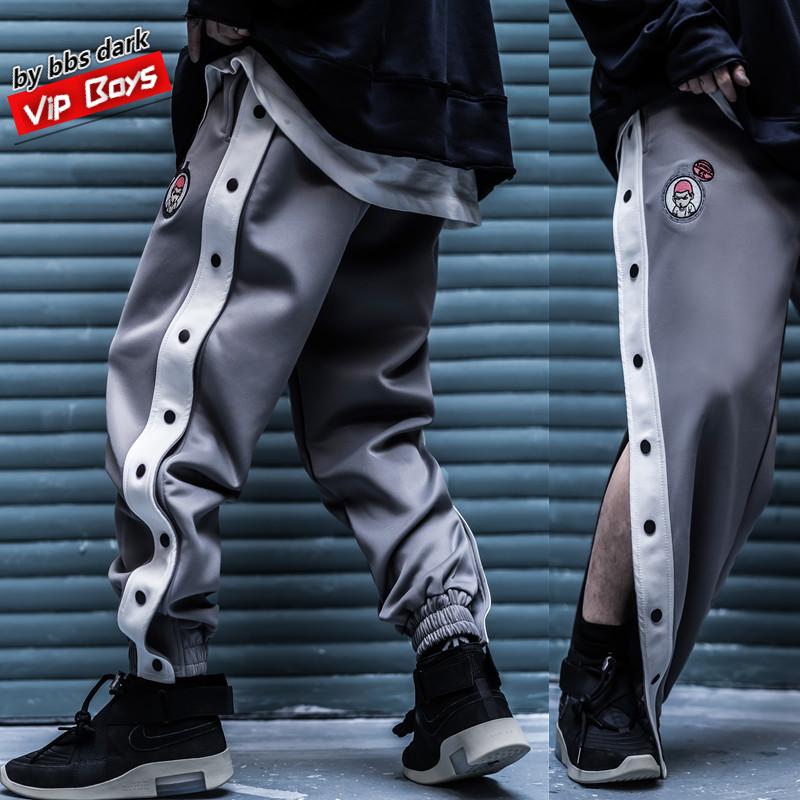 串标排扣篮球束脚运动秋冬男装长裤136.20元包邮