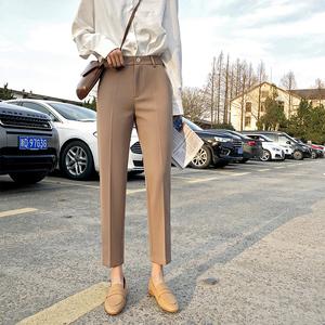 西装裤夏小个子大码九分小脚休闲裤