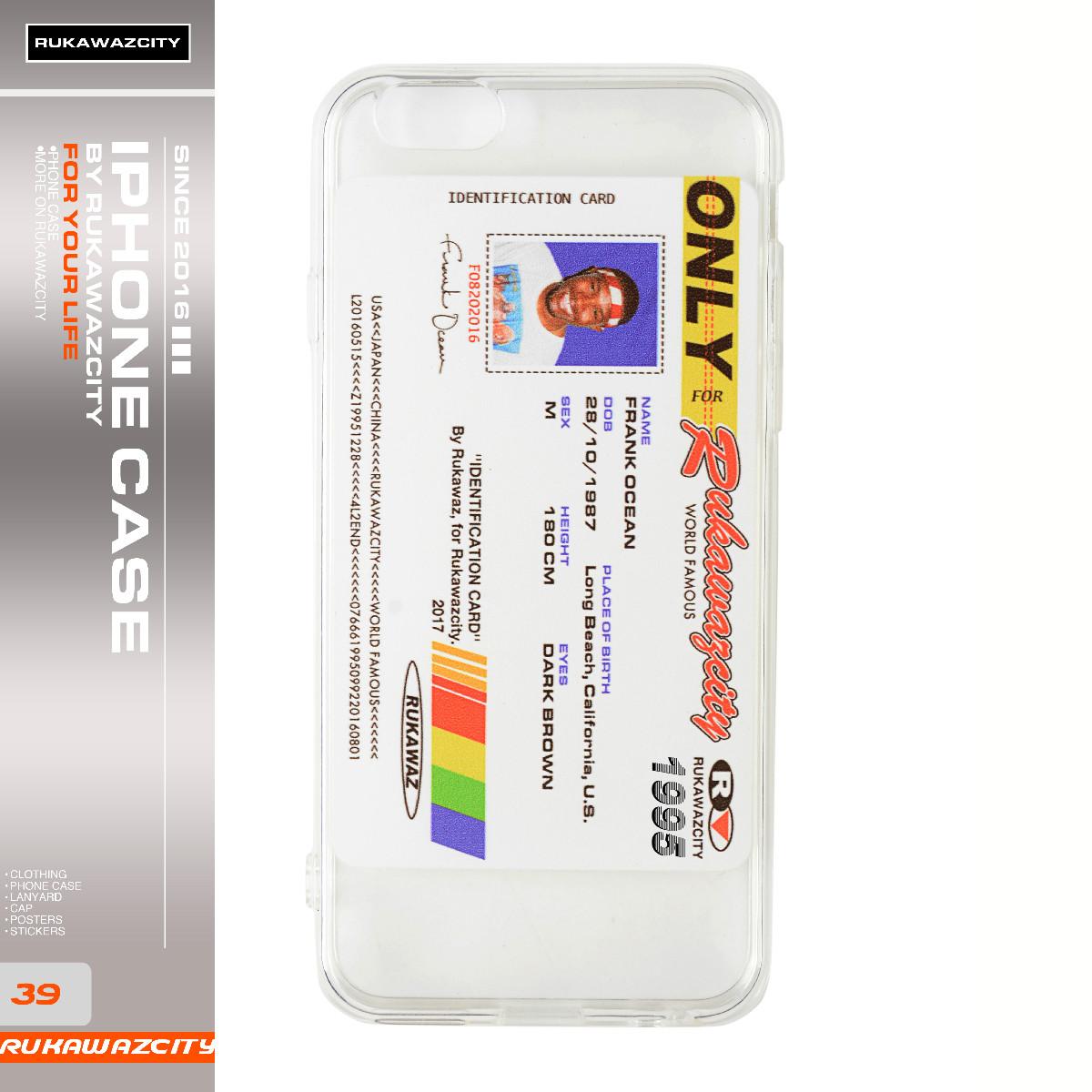 RUKAWAZCITY 原创设计Frank Ocean 法海恶搞证件照iPhone手机壳