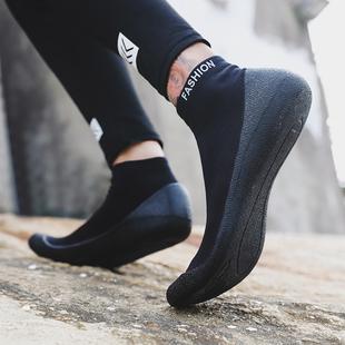 涉水鞋速幹情侶赤足襪子漂流貼膚軟鞋專用鞋游泳鞋跑步機瑜伽軟鞋