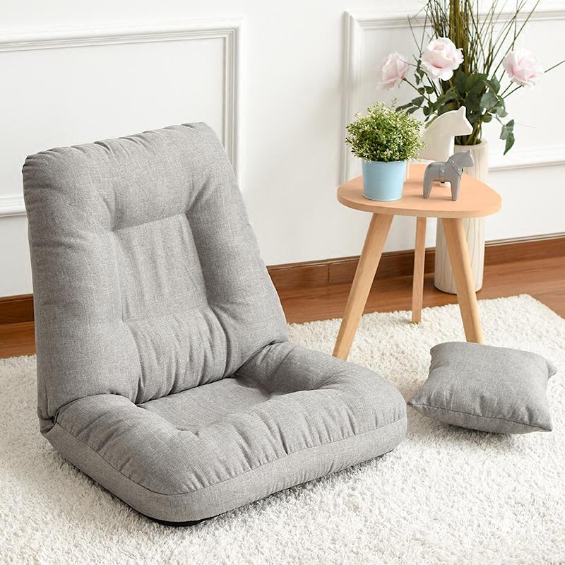 多功能单人网咖电脑床上布艺折叠椅