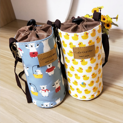 Can diagonally cross the water-proof mug cover, drop-proof thermos thermos protective cover, strap, rope, universal glass tote bag